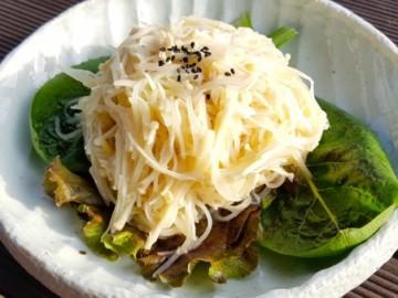 [출처 황성수 힐링스쿨] 감자채 팽이버섯 겨자소스 무침